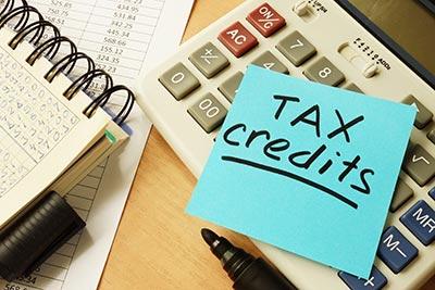 tax credits sticky note